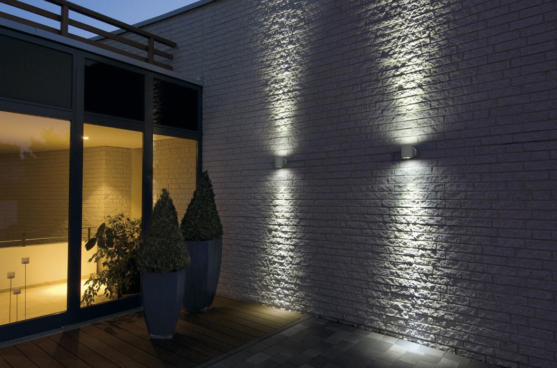au enleuchte sitra wall up down wandleuchte steingrau ks. Black Bedroom Furniture Sets. Home Design Ideas