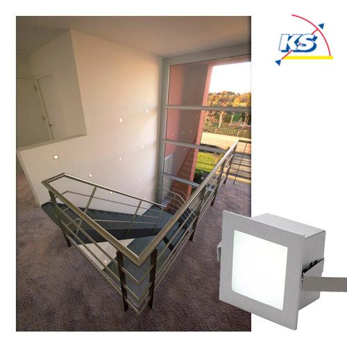 einbauleuchte frame basic led geh use silbergrau led warmwei ks licht onlineshop leuchten. Black Bedroom Furniture Sets. Home Design Ideas