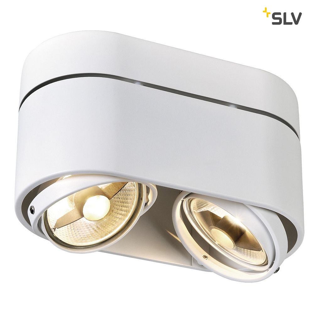 deckenstrahler kardamod surface round es111 double rund 2x gu10 ks licht onlineshop. Black Bedroom Furniture Sets. Home Design Ideas