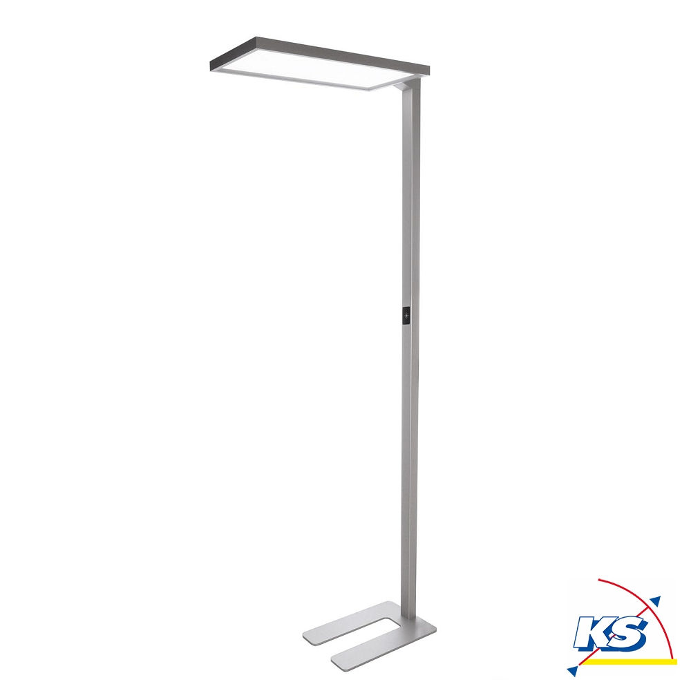 Led Stehleuchte Office One 80w 4000k Dimmbar Silber