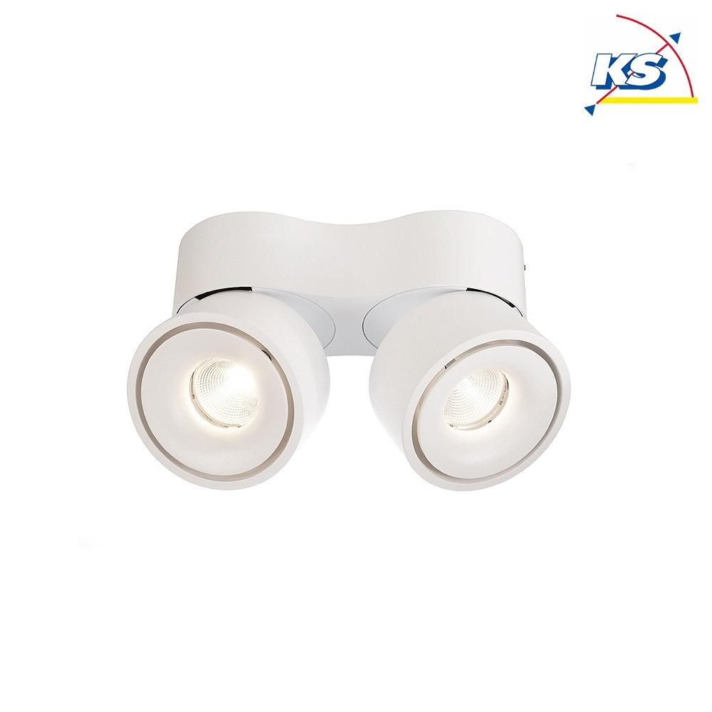 Deko Light LED Deckenleuchte UNI II DOUBLE, 20W 20K 20lm 20°, dimmbar,  Weiß