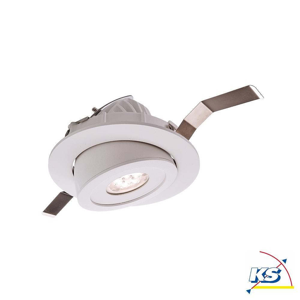 LED Deckeneinbauleuchte Shop Einbaudownlight, 20 20V AC/20 20Hz, 20K,  20W, 20°, weiß