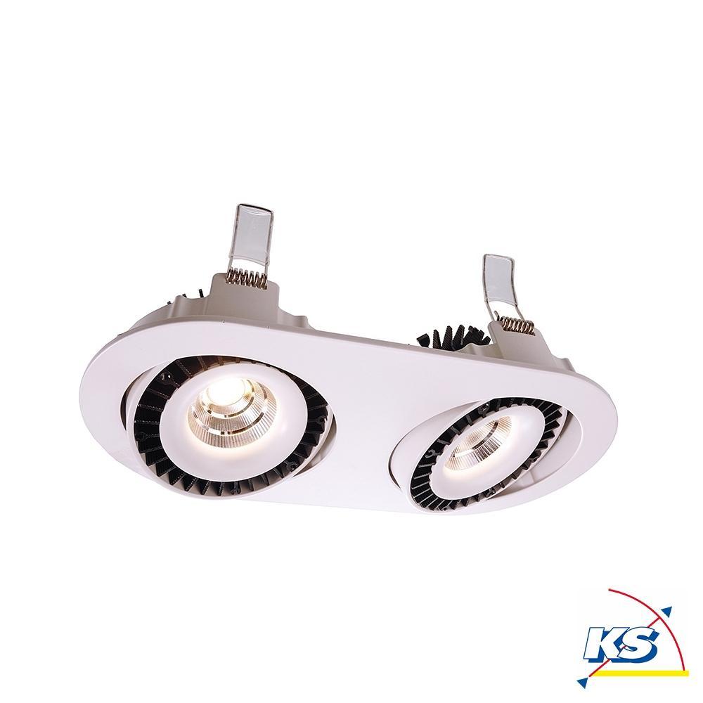 LED Deckeneinbauleuchte Shop II Einbaudownlight, stromkonstant, 20 mA,  20W, 20°, 20K, weiß