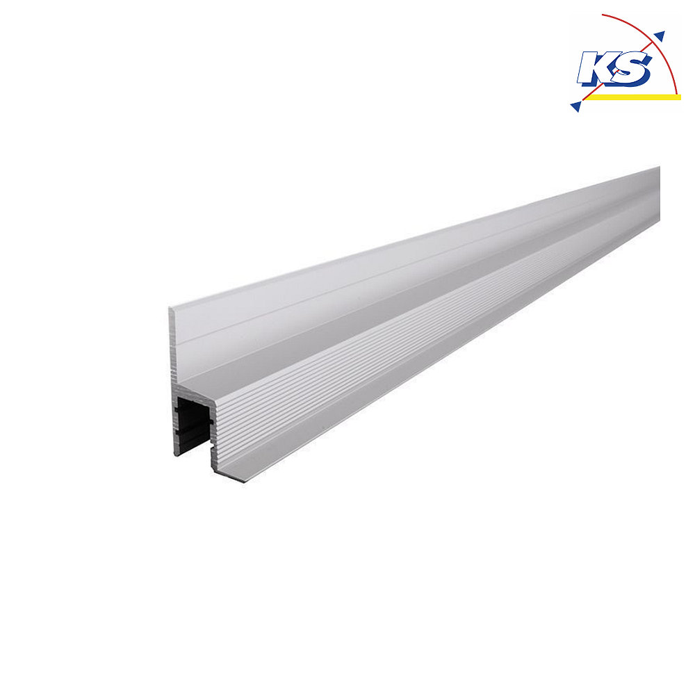 Trockenbau Profil, Deckenvoute EL 20 20 für 20mm LED Strip, Silber matt,  eloxiert, 20cm