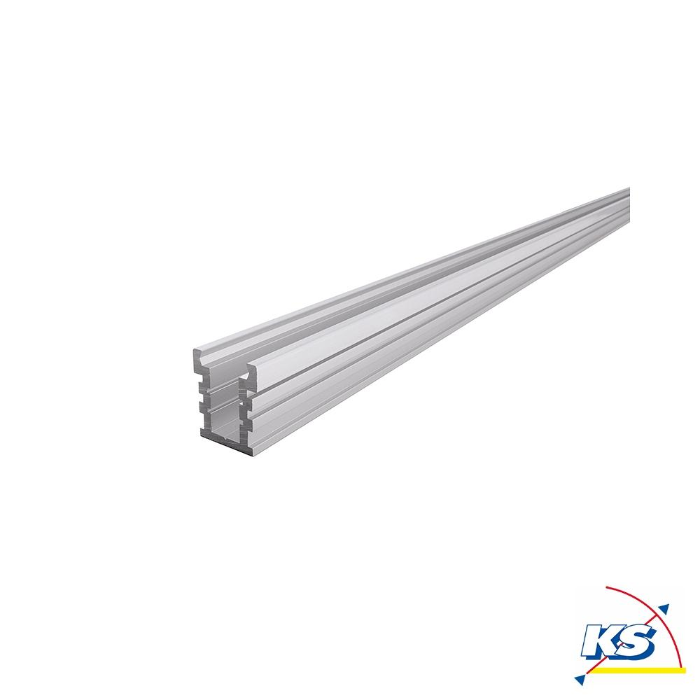Deko Light IP Profil U hoch befahrbar EU 20 20 für 20   20,20 LED Strips,  silber matt, Länge 20