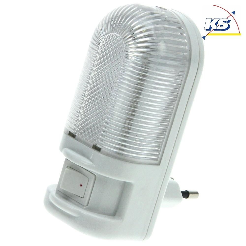 LED Nachtlicht WOODY, 1W, IP20, warmweiß, mit Ein Ausschalter, weiß