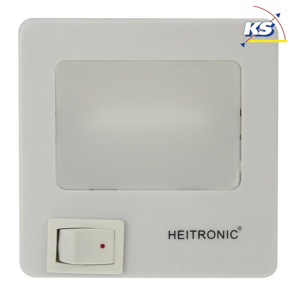 LED Nachtlicht, 1,5W, IP20, neutralweiß, mit Ein Ausschalter, weiß