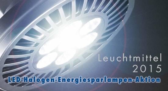 Die LED-Halogen-Energiesparlampen-Aktion