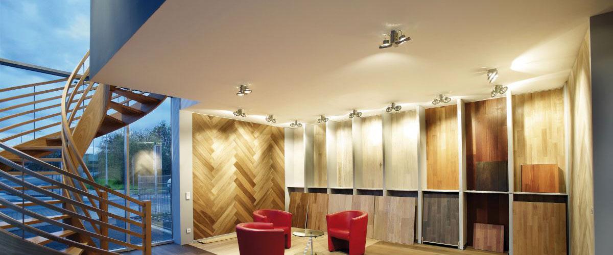 LED Licht Leiste bewegliche Spots Decken Strahler Lampe Wand Leuchte Big Light