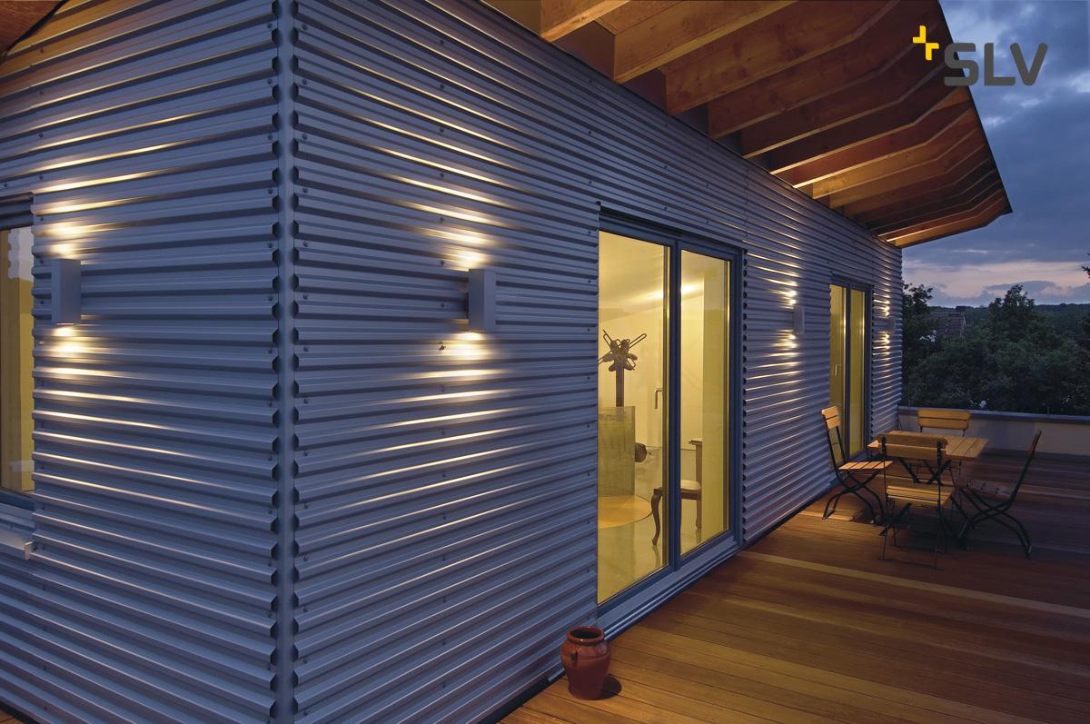 wandleuchte theo up down out gu10 eckig max 2x35w silbergrau ks licht onlineshop. Black Bedroom Furniture Sets. Home Design Ideas