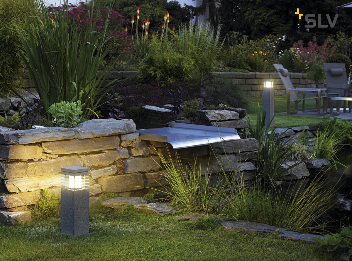 stehleuchte arrock granite 40 e27 max 15w granit salt pepper slv ks licht onlineshop. Black Bedroom Furniture Sets. Home Design Ideas