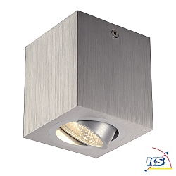 UNO LUX, square, LED, 6W, 38°, 3000K, inkl. Treiber, alu-brushed