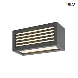 LED Outdoor Wandleuchte BOX-L, IP44 IK05, 19W 3000K 480lm, direkt/indirekt, Anthrazit