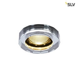 LED Einbauleuchte CRYSTAL DL, 7.3W 1800-3000K 460lm 38°, TRIAC Dim-to-Warm