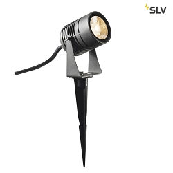 Premium-LED Outdoor Erdspießleuchte LED SPIKE, IP55 IK06, 6W 3000K 400lm 40°, schwenkbar