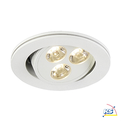 LED Einbaustrahler TRITON 3 LED, Downlight 3x1W, weiß, LED warmweiß