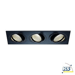 LED Deckeneinbaustrahler NEW TRIA 3 DL SQUARE SET, COB LED, 3000K, 38°, inkl. Treiber, Clipfedern