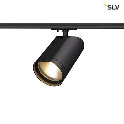 LED 1-Phasen Strahler BILAS SPOT Single, 15W, COB LED, 2700K, 60°, inkl. 1-Phasen-Adapter, schwarz