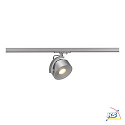 LED 1-Phasen-Strahler KALU TRACK LED, 13W, 85°, 3000K, 860lm, inkl. 1-Phasen-Adapter, silbergrau