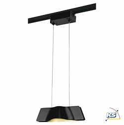 LED 1-Phasen Pendelleuchte WAVE PENDANT, 8,6W, COB LED, 3000K, 120°, inkl. 1-Phasen-Adapter