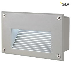 LED Wandleuchte BRICK LED DOWNUNDER silbergrau, 6500K