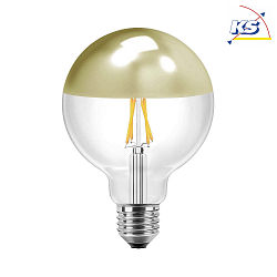 Blulaxa led filament vintage globelampe goldglas amber 9 5cm 300 e27 warmwei 4w hwh - Kopfspiegellampe led e27 ...