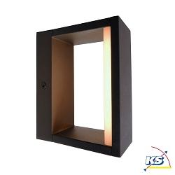 LED Outdoor Wandleuchte CATA, IP54, 6.5W 3000K 230lm 100°, Alu Druckguss, Anthrazit