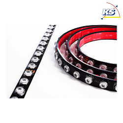 Deko-Light Flexibler LED Strip D LENSE LINE RGB, IP67 500cm, 24V, 35W 1130lm, 10°, dimmbar, schwarz