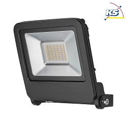 Radium LED Flutlichtstrahler RaLED Floodlight, IP65 IK06, 30W 3000K 2400lm, Aluminium, Schwarz