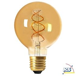 Girard Sudron LED-Leuchtmittel Globe G95 Filament LED TWISTED 5W E27 2000K 260Lm 25.000Std. Amber