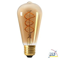 Girard Sudron LED-Leuchtmittel Edison Filament LED TWISTED 4W E27 2000K 200Lm 25.000Std. dimmbar amber