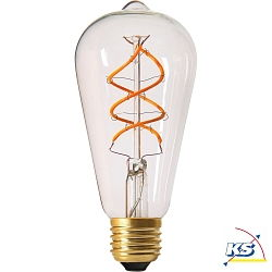 Girard Sudron LED-Leuchtmittel Edison Filament LED TWISTED 5W E27 2200K 300Lm 25.000Std. Klar