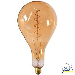 Girard Sudron großes LED-Leuchtmittel Filament LED TWISTED 290mm 6W E27 2000K 300Lm 25.000Std. Dimmbar amber