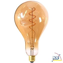 Girard Sudron großes LED-Leuchtmittel Filament LED TWISTED 240mm 4W E27 2000K 200Lm 25.000Std. Dimmbar amber