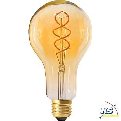 Girard Sudron großes LED-Leuchtmittel Filament LED TWISTED 180mm 4W E27 2000K 200Lm dimmbar amber