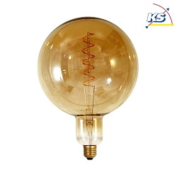 LED Filament Leuchtmittel GIANT Globe G200 twisted, 6W, E27, 2000K, 240lm, dimmbar, rauchig