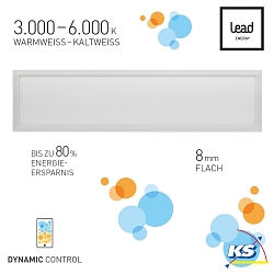Lead Energy LED PANEL PDW120, WiFi, DYNAMIC WHITE, 120x30cm, LEAD DYNAMIC CONTROL