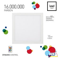 Lead Energy LED PANEL PDC62, WiFi, RGB, 62x62cm, LEAD DYNAMIC CONTROL