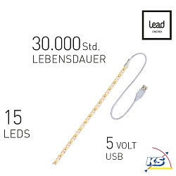 Lead Energy LED USB Strip SUWW30, warmweiß, 1 x 30cm, LEAD DYNAMIC