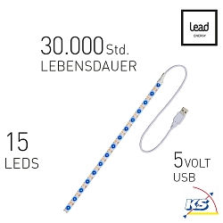Lead Energy LED USB Strip SUB30 Blau 1 x 30cm, LEAD DYNAMIC