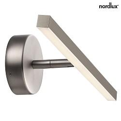 nordlux led badleuchte ip s13 60 led spiegelleuchte 6 5w led 2700k 567lm ip44 stahl. Black Bedroom Furniture Sets. Home Design Ideas