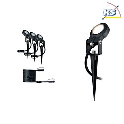 Ergänzungs-Set Outdoor Plug & Shine LED Spot STING, IP67, 24V, 3x6W 3000K 270lm 100°, dimmbar