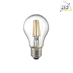 LED Filamentlampe NORMAL, 4W, E27, 2700K, 470lm, klar