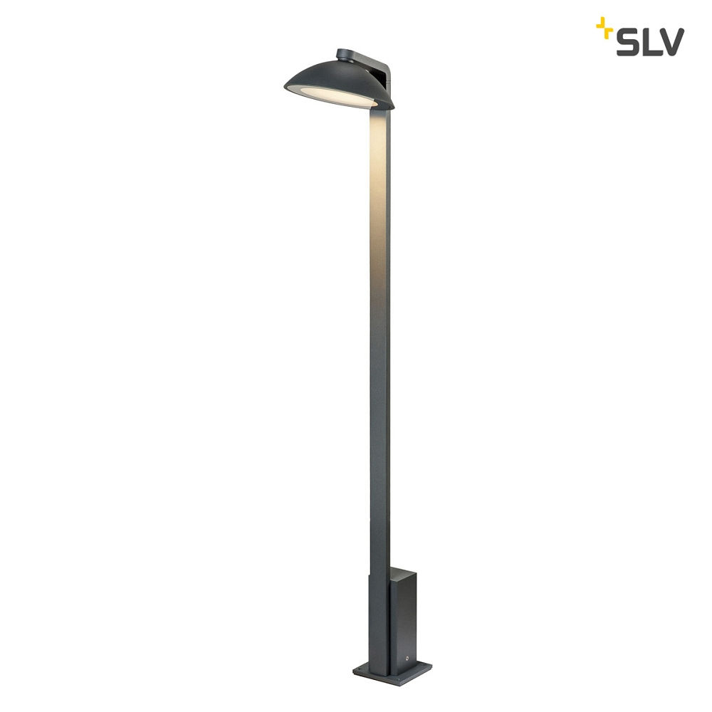 LED Outdoor Stehleuchte MALU Pole, IP44 IK06, 9.2W 3000K 360lm 100°, Anthrazit