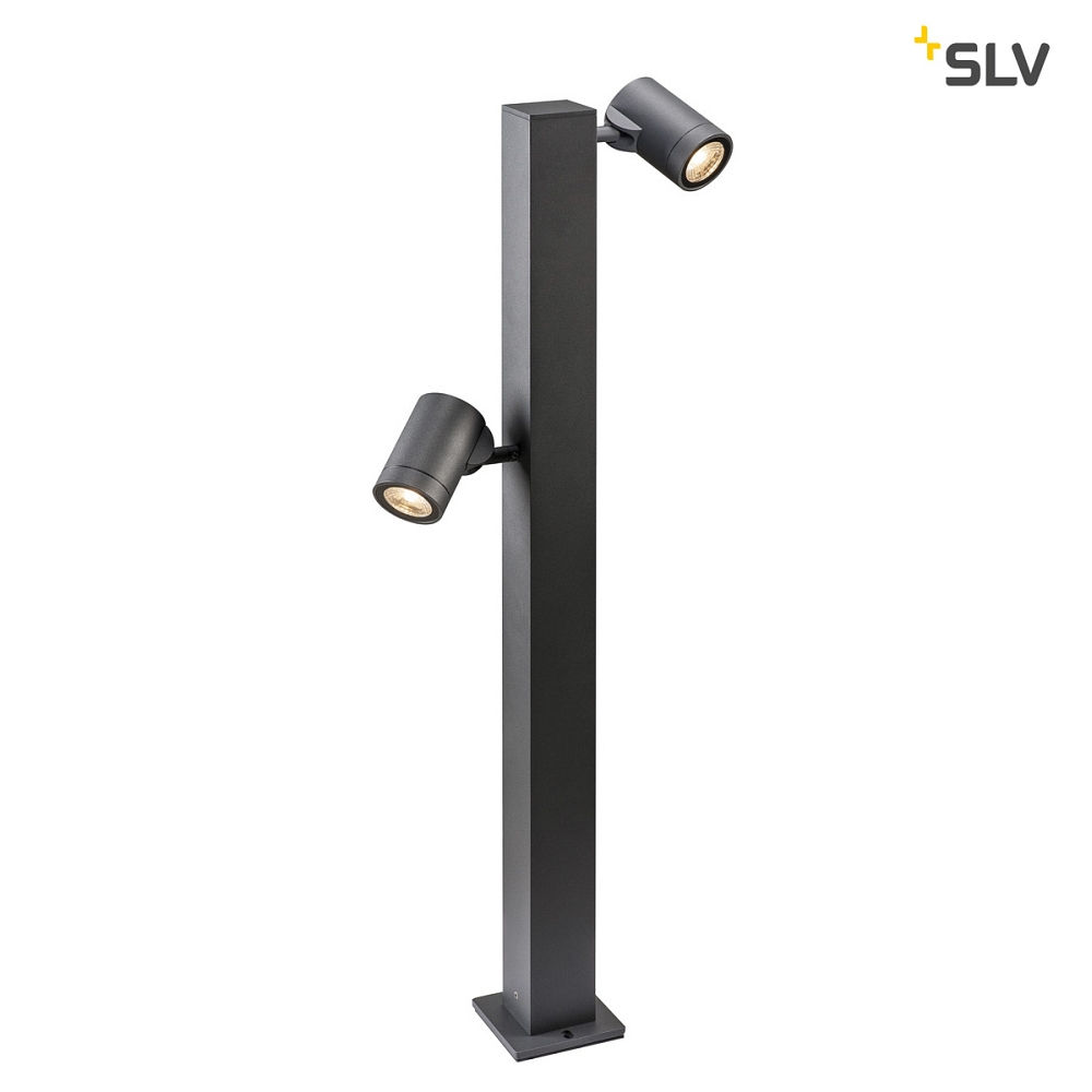 LED Outdoor Stehleuchte HELIA Single, IP55, 16W 3000K, 2x 450lm 35°, TRIAC dimmbar, Anthrazit