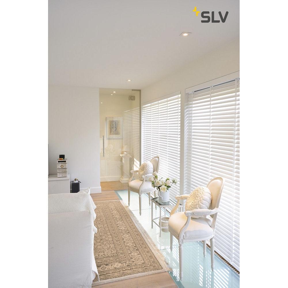 einbaustrahler new tria i gu10 eckig wei slv ks licht onlineshop leuchten aus essen. Black Bedroom Furniture Sets. Home Design Ideas