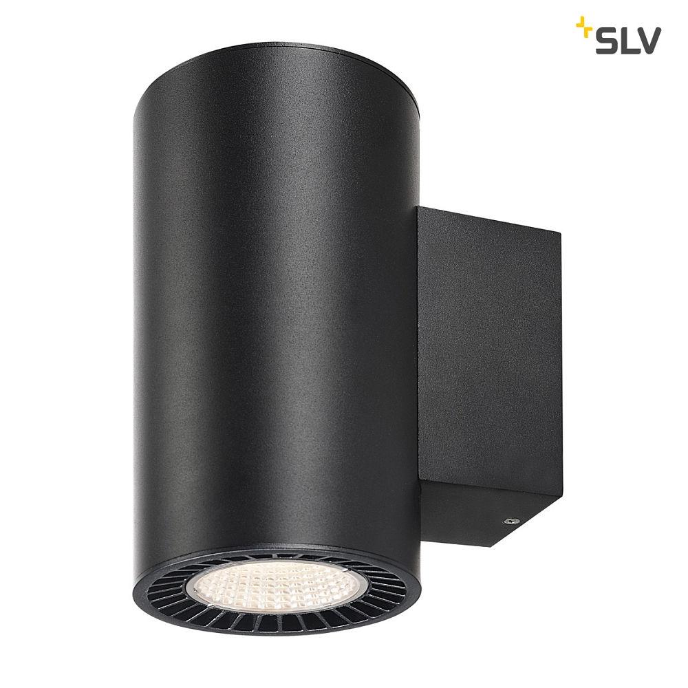 led wandleuchte supros led up down rund 2x15 2w slm led 60 3000k 2750lm slv ks licht. Black Bedroom Furniture Sets. Home Design Ideas