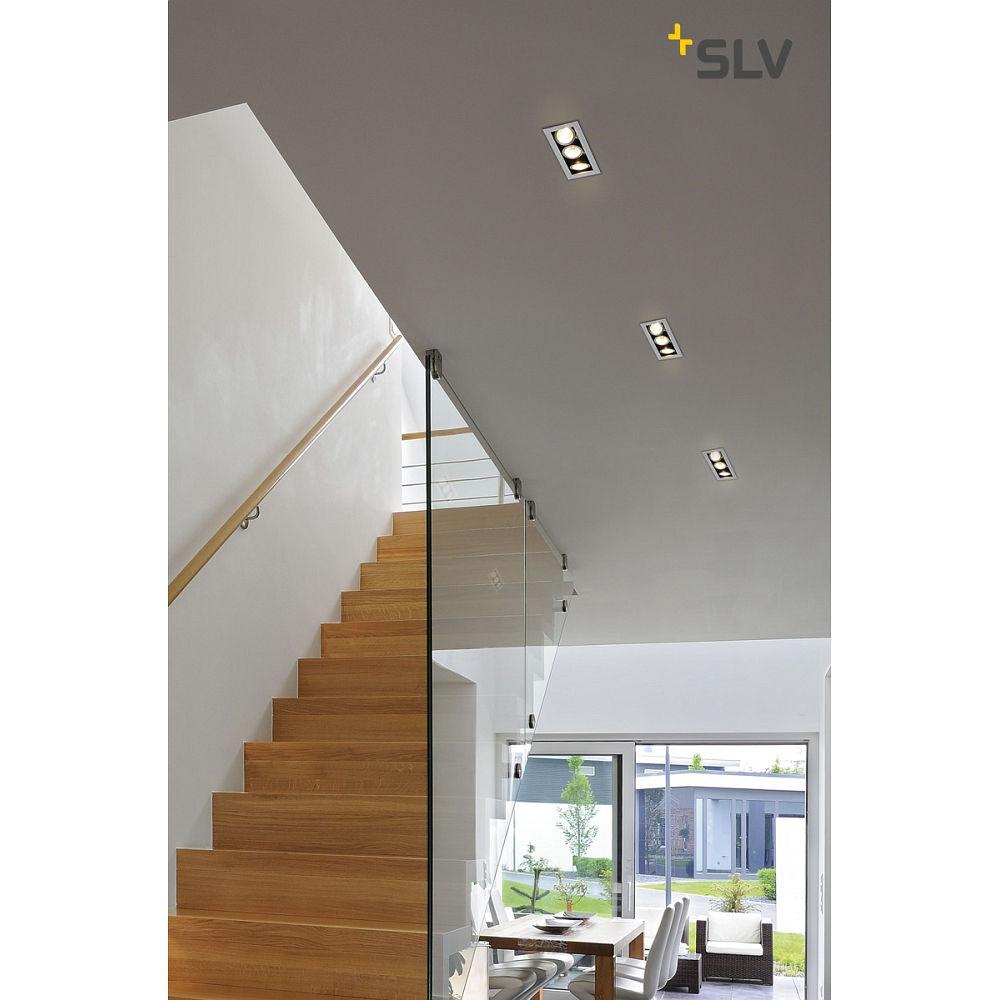deckeneinbaustrahler kadux 3 gu10 downlight 3xgu10 230v clipfedern alu geb rstet ks licht. Black Bedroom Furniture Sets. Home Design Ideas