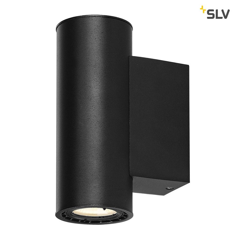 led wandleuchte supros 78 led up down rund 2x9w led 60 3000k schwarz slv ks licht. Black Bedroom Furniture Sets. Home Design Ideas