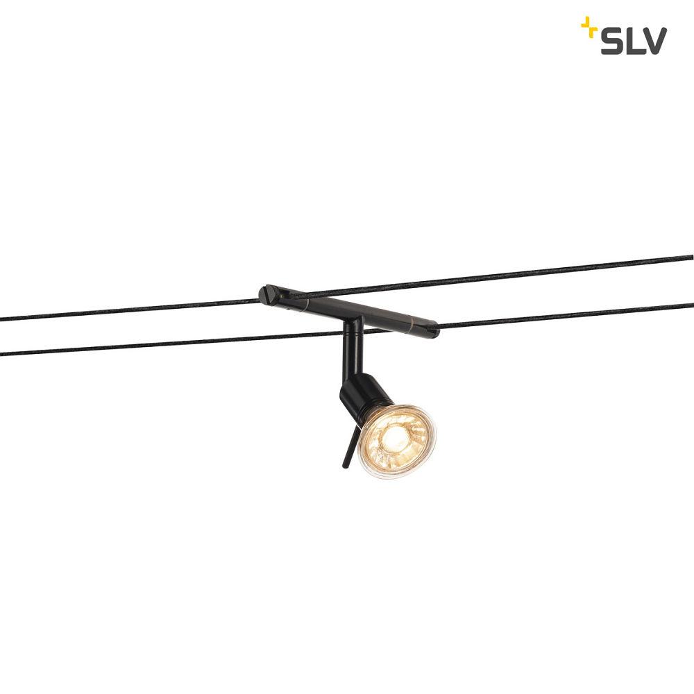 SYROS, Seilleuchte für TENSEO Niedervolt-Seilsystem, QR-C51, schwarz ...